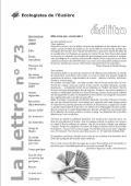 lettre Lien vers: http://www.euziere.org/wakka.php?wiki=RessourcesLettre/download&file=Lettre73.pdf